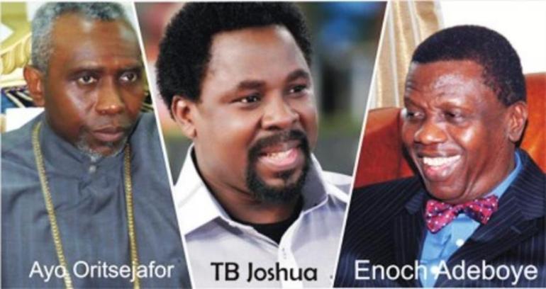 Ayo Oritsejafor TB Joshua Enoc Adeboye