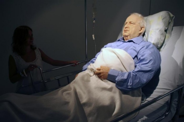 Life-Size Art Model of Ariel Sharon In A Coma